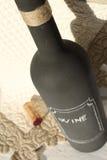 Μπουκάλι κρασιού πινάκων κιμωλίας Στοκ Φωτογραφία