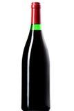 Μπουκάλι κρασιού που απομονώνεται στο λευκό Στοκ Εικόνες
