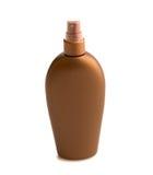 Μπουκάλι με τη suntan κρέμα Στοκ Φωτογραφία
