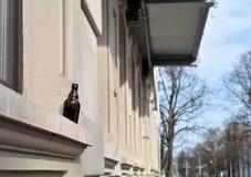 μπουκάλι μπύρας κενό Στοκ φωτογραφίες με δικαίωμα ελεύθερης χρήσης