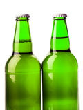 Μπουκάλι μπύρας πράσινο Στοκ Εικόνες