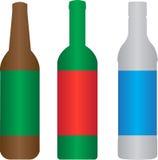 Μπουκάλι πνευμάτων κρασιού μπύρας Ελεύθερη απεικόνιση δικαιώματος