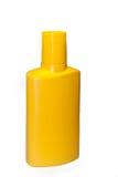 Μπουκάλι που απομονώνεται κίτρινο Στοκ Φωτογραφία