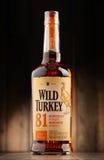 Μπουκάλι του άγριου ουίσκυ μπέρμπον της Τουρκίας Κεντάκυ ευθέος Στοκ Εικόνες