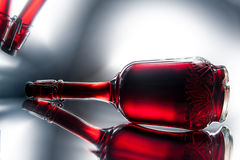 Μπουκάλι του κόκκινου κρασιού Στοκ εικόνες με δικαίωμα ελεύθερης χρήσης