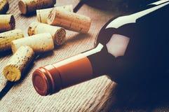 Μπουκάλι του κόκκινου κρασιού Στοκ Φωτογραφία