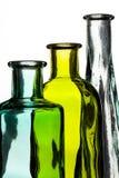 Μπουκάλι τρία στο λευκό Στοκ Εικόνα