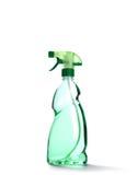 Μπουκάλι ψεκασμού με το πράσινο υγρό Στοκ φωτογραφία με δικαίωμα ελεύθερης χρήσης