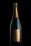 Μπουκάλι CHAMPAGNE με τη χρυσή ετικέτα Στοκ Εικόνες