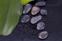Μπουκάλι massage oil spa Στοκ φωτογραφία με δικαίωμα ελεύθερης χρήσης