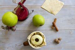 Μπουλέττες μήλων ψησίματος Στοκ Εικόνες