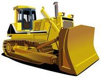 μπουλντόζα κίτρινη διανυσματική απεικόνιση