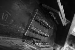 Μπουλόνια στην κορυφή πύργων του Άιφελ Στοκ Φωτογραφία
