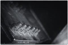 Μπουλόνια στην κορυφή πύργων του Άιφελ Στοκ Εικόνα