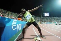 Μπουλόνι Usain στοκ φωτογραφίες