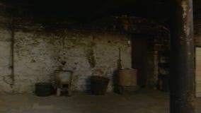 Μπουντρούμι με μια πόρτα απόθεμα βίντεο