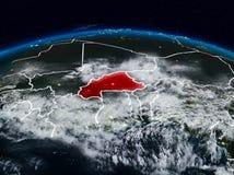 Μπουρκίνα Φάσο τη νύχτα στοκ φωτογραφίες