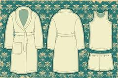 Μπουρνούζι και unredwear για το άτομο. Διανυσματική απεικόνιση Στοκ φωτογραφία με δικαίωμα ελεύθερης χρήσης
