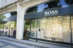 Μπουτίκ μόδας της Hugo Boss Στοκ εικόνα με δικαίωμα ελεύθερης χρήσης