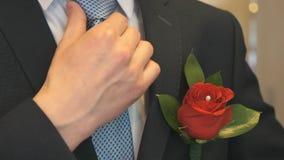 Μπουτονιέρα ενθέτων χεριών γυναικών ` s στην τσέπη φιλμ μικρού μήκους