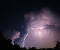 Μπουλόνι νυχτερινής αστραπής Στοκ Εικόνα