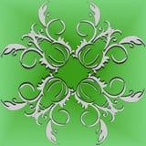 Μπούκλες σε ένα ανοικτό πράσινο υπόβαθρο Στοκ Φωτογραφίες