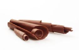μπούκλες σοκολάτας Στοκ Εικόνες