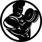 Μπούκλα Bicep Bodybuilder Απεικόνιση αποθεμάτων