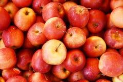 Μπούσελ των κόκκινων μήλων στοκ εικόνα