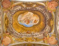 Μπολόνια - ανώτατη νωπογραφία από το παρεκκλησι Rosary στην εκκλησία Αγίου Dominic Στοκ εικόνα με δικαίωμα ελεύθερης χρήσης
