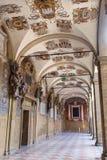 Μπολόνια - εξωτερικό αίθριο Archiginnasio Στοκ Φωτογραφίες