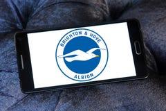 Μπράιτον & ανυψωμένο λογότυπο λεσχών ποδοσφαίρου Albion στοκ φωτογραφίες