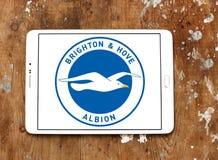 Μπράιτον & ανυψωμένο Albion Φ Γ Λογότυπο λεσχών ποδοσφαίρου στοκ φωτογραφία με δικαίωμα ελεύθερης χρήσης