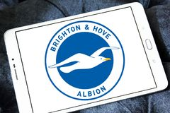 Μπράιτον & ανυψωμένο Albion Φ Γ Λογότυπο λεσχών ποδοσφαίρου στοκ εικόνες