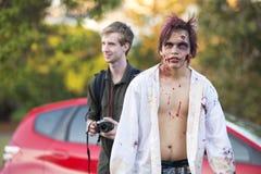 Μπρίσμπαν, Queensland, Αυστραλία - 5 Οκτωβρίου 2014: Ετήσιος περίπατος ιδρύματος εγκεφάλου zombie στις 5 Οκτωβρίου 2014 στο West  Στοκ φωτογραφίες με δικαίωμα ελεύθερης χρήσης