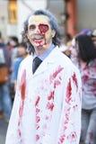 Μπρίσμπαν, Queensland, Αυστραλία - 5 Οκτωβρίου 2014: Ετήσιος περίπατος ιδρύματος εγκεφάλου zombie στις 5 Οκτωβρίου 2014 στο West  Στοκ εικόνα με δικαίωμα ελεύθερης χρήσης