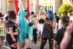 Μπρίσμπαν, Queensland, Αυστραλία - 5 Οκτωβρίου 2014: Ετήσιος περίπατος ιδρύματος εγκεφάλου zombie στις 5 Οκτωβρίου 2014 στο West  Στοκ φωτογραφία με δικαίωμα ελεύθερης χρήσης