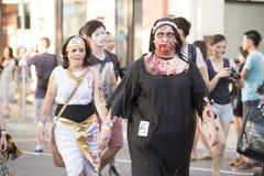 Μπρίσμπαν, Queensland, Αυστραλία - 5 Οκτωβρίου 2014: Ετήσιος περίπατος ιδρύματος εγκεφάλου zombie στις 5 Οκτωβρίου 2014 στο West  Στοκ εικόνες με δικαίωμα ελεύθερης χρήσης