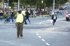 Μπρίσμπαν, Queensland, Αυστραλία - 5 Οκτωβρίου 2014: Ετήσιος περίπατος ιδρύματος εγκεφάλου zombie στις 5 Οκτωβρίου 2014 στο West  Στοκ Εικόνες