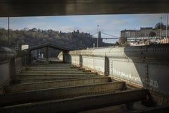 Μπρίστολ, UK, στις 23 Φεβρουαρίου 2019, γέφυρα ταλάντευσης Brunels βασίλειων Isambard στοκ εικόνα
