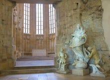 Μπρατισλάβα - μπαρόκ άγαλμα αμόλυντου στο γοτθικό ST John το παρεκκλησι Ευαγγελιστών εκτός από της φραντσησθανής εκκλησίας. Στοκ φωτογραφία με δικαίωμα ελεύθερης χρήσης
