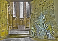 Μπρατισλάβα - μπαρόκ άγαλμα αμόλυντου στο γοτθικό ST John το παρεκκλησι Ευαγγελιστών Στοκ Φωτογραφίες