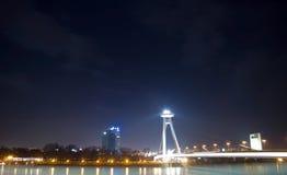 Μπρατισλάβα τη νύχτα Στοκ φωτογραφία με δικαίωμα ελεύθερης χρήσης
