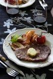 μπριζόλα γευμάτων Στοκ Φωτογραφίες