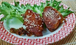 Μπριζόλες χοιρινού κρέατος Πεκίνου στοκ φωτογραφία με δικαίωμα ελεύθερης χρήσης