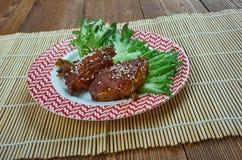 Μπριζόλες χοιρινού κρέατος Πεκίνου στοκ εικόνες με δικαίωμα ελεύθερης χρήσης