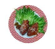 Μπριζόλες χοιρινού κρέατος Πεκίνου στοκ εικόνα με δικαίωμα ελεύθερης χρήσης