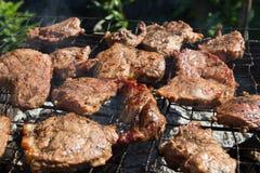 Μπριζόλα βόειου κρέατος στη σχάρα Στοκ εικόνες με δικαίωμα ελεύθερης χρήσης