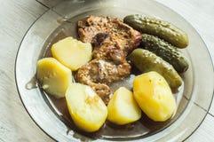 Μπριζόλα περιλαίμιων χοιρινού κρέατος Στοκ φωτογραφία με δικαίωμα ελεύθερης χρήσης