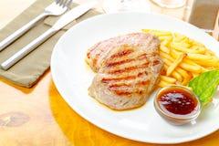 μπριζόλα τηγανητών κοτόπου Στοκ φωτογραφία με δικαίωμα ελεύθερης χρήσης